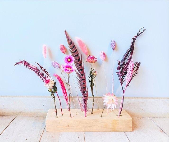 Flowergram roze en paars